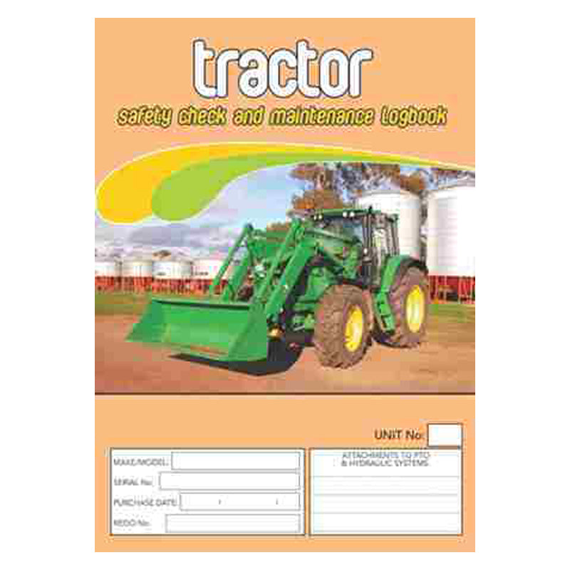 Tractor Safety Check & Maintenance Log Book
