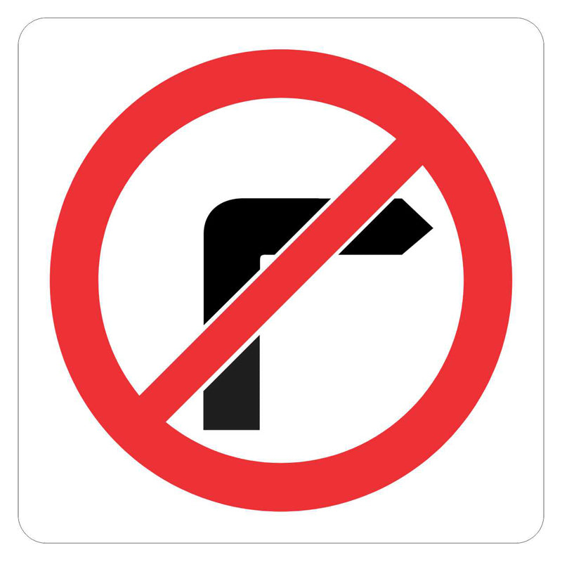 Traffic Sign - No Right Turn