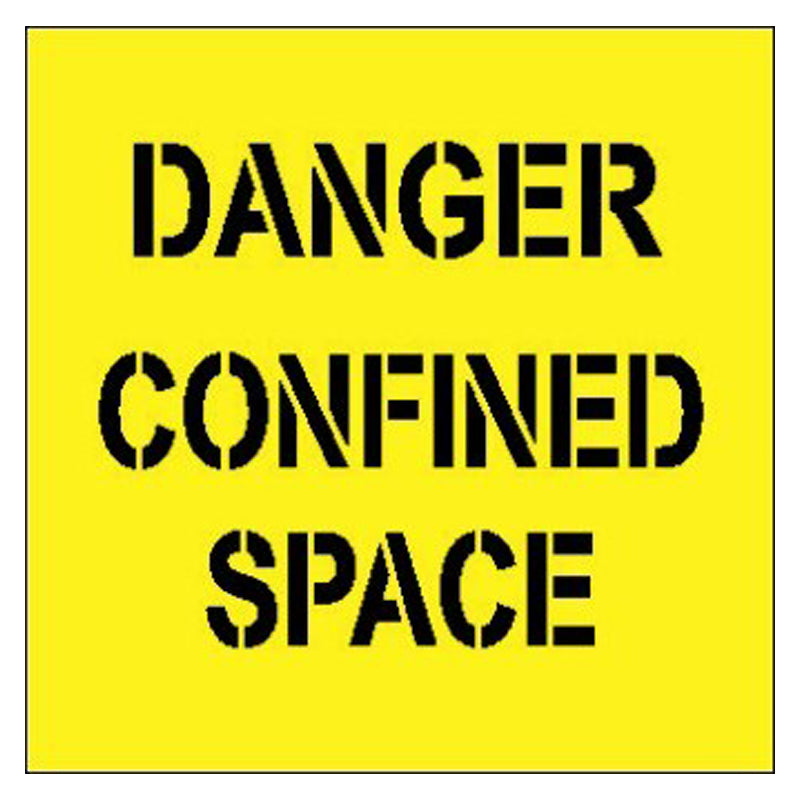 Stencil - Danger Confined Space