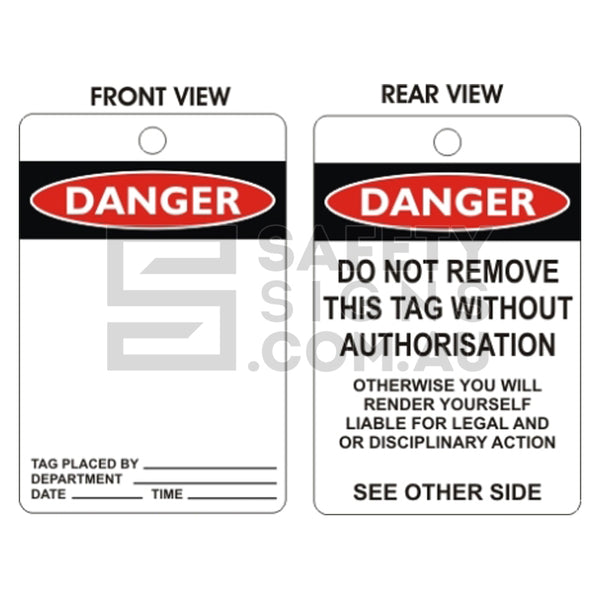 Danger Tags - Blank