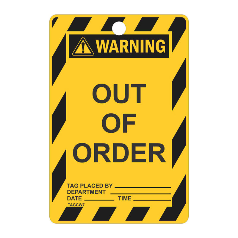 Warning Tags - Out Of Order