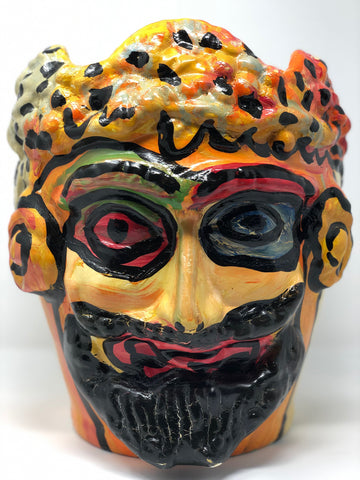 """Colorful face vase"""