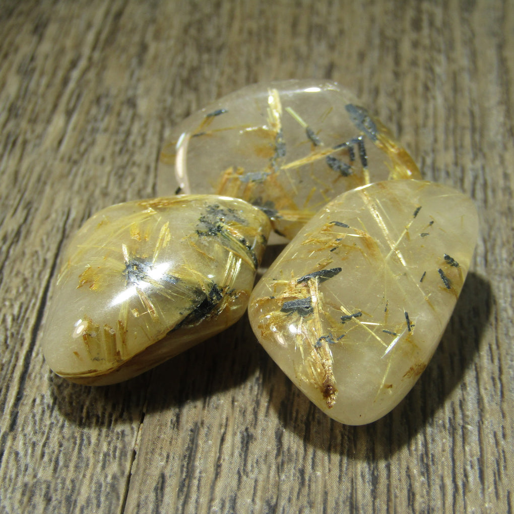 Rutilated Quartz Tumbles