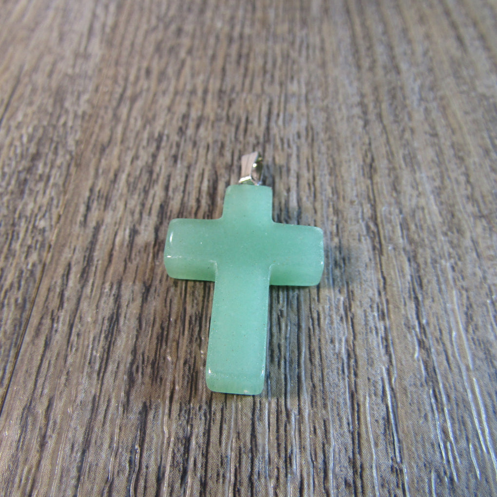 Green Aventurine Cross Pendant