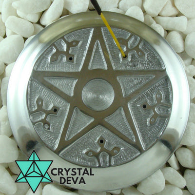 Pentagram Aluminium Incense / Candle Holder