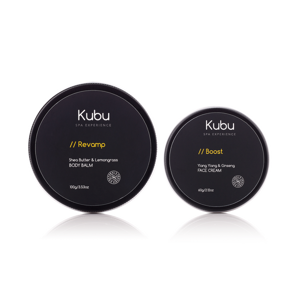 Kubu Cream & Balm Duo set of face and body moisturisers