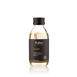 Bottle of Kubu Co1 Body Oil