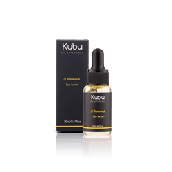 Bottle of Kubu Renewal Eye Serum and Box