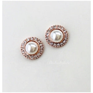 Pearl button crystal wedding fancy plugs tunnels gauges: sizes 4g- 9/16""