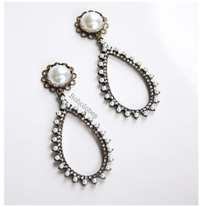 Rhinestone dangle pearl turquoise hider plugs tunnels gauges 6g 4g 2g 1g 0g 00g