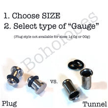 Load image into Gallery viewer, Taper gauges DELUXE stretch kit sizes 14g - 00g Including 1g tapers