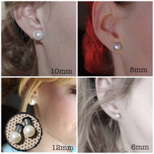 Load image into Gallery viewer, Plugs gauges Rose Gold Swarovski plugs pearl plugs 6mm 8mm 10mm 12mm ball plugs: 8g - 00g