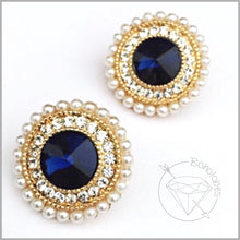 Load image into Gallery viewer, Plugs gauges Blue sapphire plugs pink plugs crystal pearl plugs for gauged ears: 0g - 3/4""