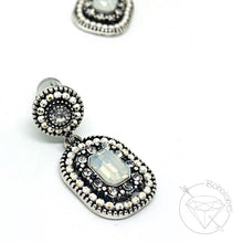 Load image into Gallery viewer, Crystal plugs Rhinestone plugs light blue opal hider plugs gauges 6g 4g 2g 1g 0g