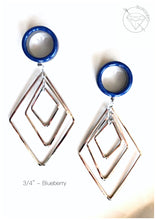 Load image into Gallery viewer, Stainless steel geometric plugs glitter shimmery dangle plugs: 2g - 1""