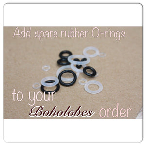 O-rings (PAIR) for plugs tunnels for gauges sizes 14g - 9/16""