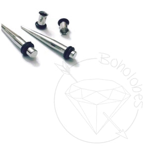 Tapers tunnels BASIC stretch kit sizes 14g - 00g Including 1g tapers