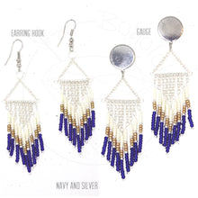 Load image into Gallery viewer, Gold fringe bohemian tassel chandelier tribal dangle plugs gauges 6g - 1""