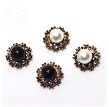 Load image into Gallery viewer, Art deco rhinestone black cluster on stainless steel plugs tunnels gauges sizes: 4g-1/2