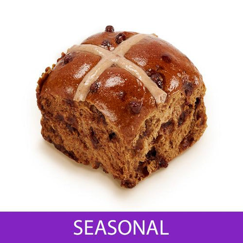 Chocolate Hot Cross Bun