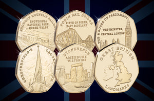 Full Set of Great British Landmarks (24ct Gold)