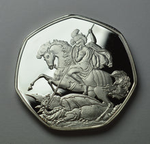 Load image into Gallery viewer, St. George & The Dragon - Silver