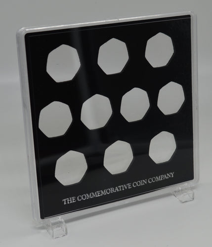 Free Standing Acrylic Glass 50p x 10 Display/Presentation Case