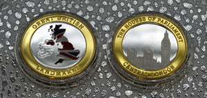 Houses of Parliament - Silver & 24ct Gold