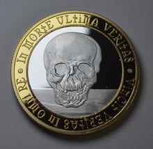 Load image into Gallery viewer, Memento Mori 'Owl & Skull' - Silver & 24ct Gold