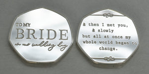To My Bride, Wedding Day - Silver