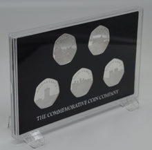 Load image into Gallery viewer, Full Set of 2019 CASTLE SERIES .999 Silver Commemoratives + Hard Presentation 50p Display Case