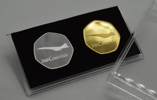 Pair of Concorde Commemoratives in Presentation/Display Case