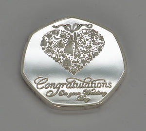Congratulation on Your Wedding Day - Silver