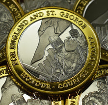 Load image into Gallery viewer, St George & The Dragon Dual Metal