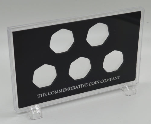 Free Standing Acrylic Glass 50p x 5 Display/Presentation Case