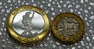 St Christopher - Silver & 24ct Gold