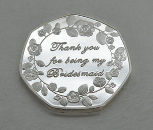 Thank You For Being My Bridesmaid - Silver