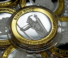 Load image into Gallery viewer, Robin Hood - Silver & 24ct Gold