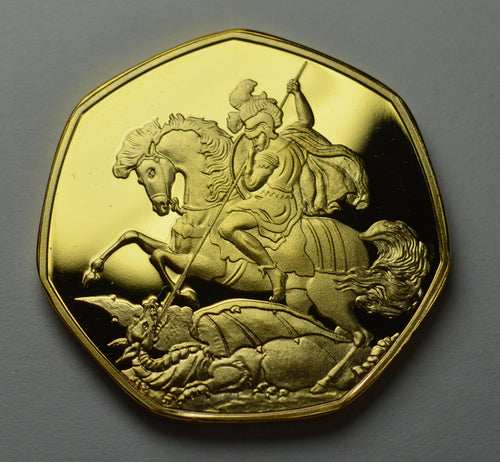 St. George & the Dragon - 24ct Gold