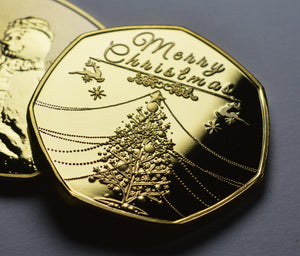 Merry Christmas, Snowman - 24ct Gold
