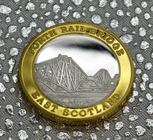 Load image into Gallery viewer, Forth Rail Bridge - Silver & 24ct Gold