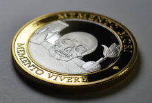 Load image into Gallery viewer, Memento Mori 'Skull, Hourglass & Tulip' - Silver & 24ct Gold