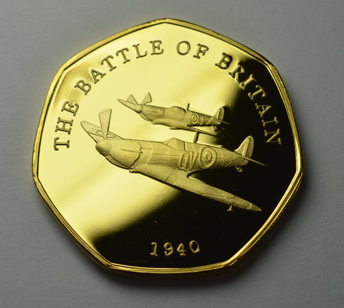 Spitfire, Battle of Britain - 24ct Gold