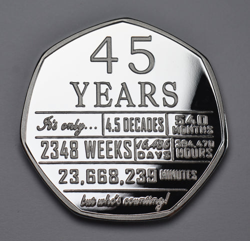 45th Birthday 'But Who's Counting' - Silver