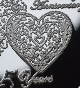 For You on Our 25th Wedding Anniversary - Silver