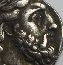 Load image into Gallery viewer, Ancient Greek Macedonian Silver Tetradrachm Coin 350BC. Philip II, Zeus