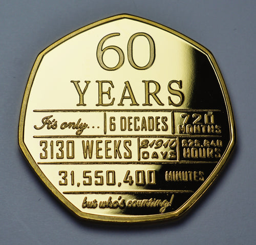 60th Birthday 'But Who's Counting' - 24ct Gold