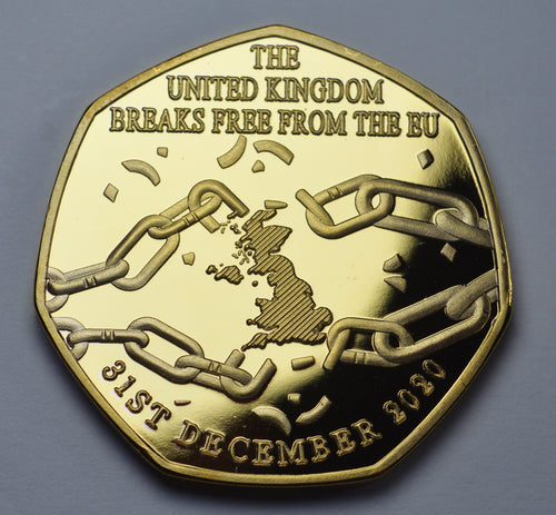 Brexit 'Breaking Free' - 24ct Gold