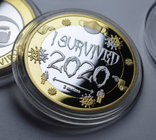 Load image into Gallery viewer, 'I Survived 2020' - Silver & 24ct Gold