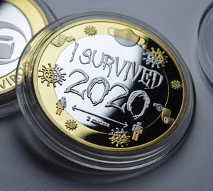'I Survived 2020' - Silver & 24ct Gold